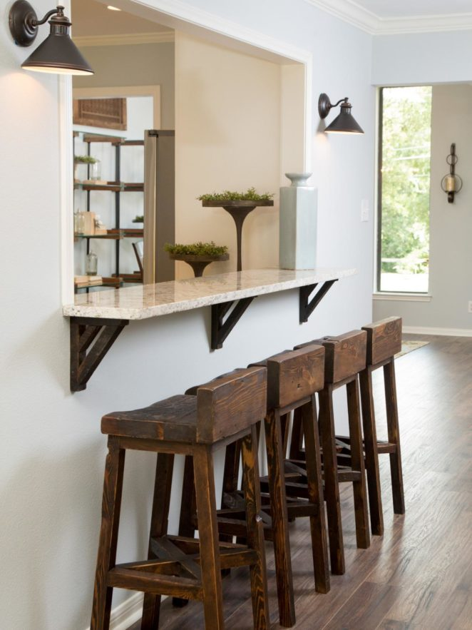 Small Kitchen Bar Is A Genius Solution For Tiny Homes   Virily