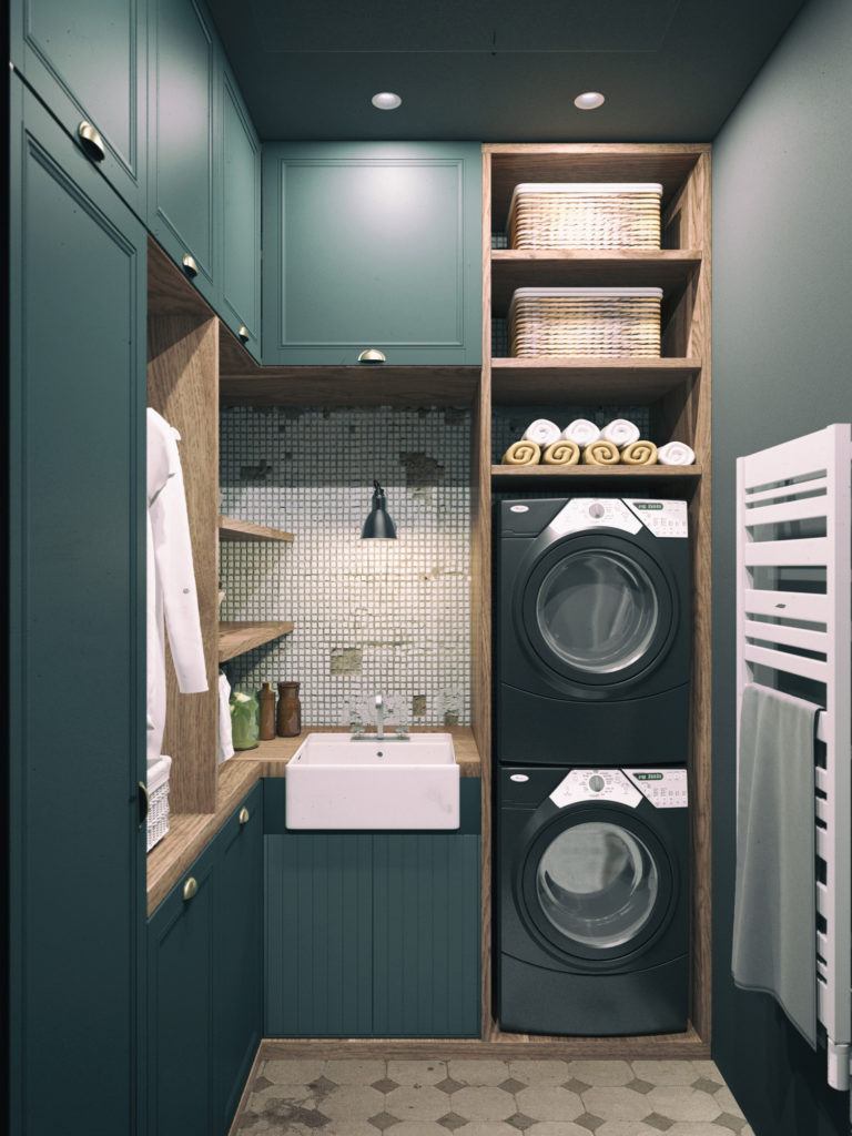 Laundry Room Home: Vertical Laundry Room Is The Ultimate Space-Saver For Your