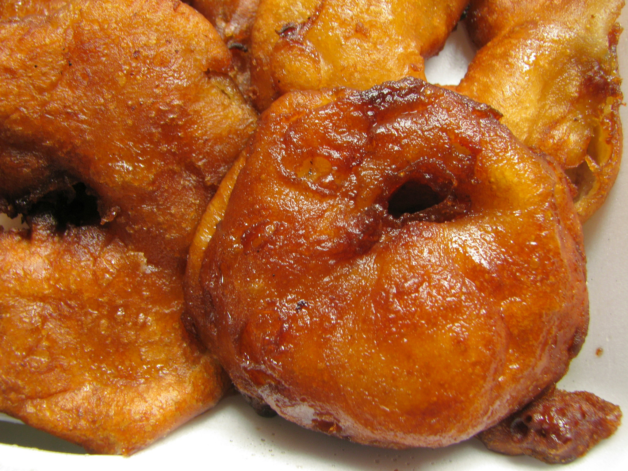 Apple Fritters with Maple Syrup