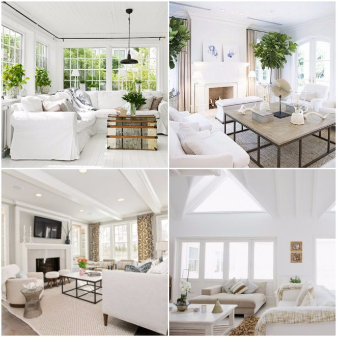 How to adjust white color to different interior styles and - Different interior design styles ...