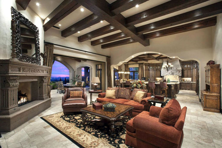 Tips For Living Room In Mediterranean Style: Furniture, Textiles, Decor  Accents   Virily