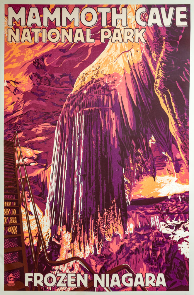 poster Mammoth cave vintage