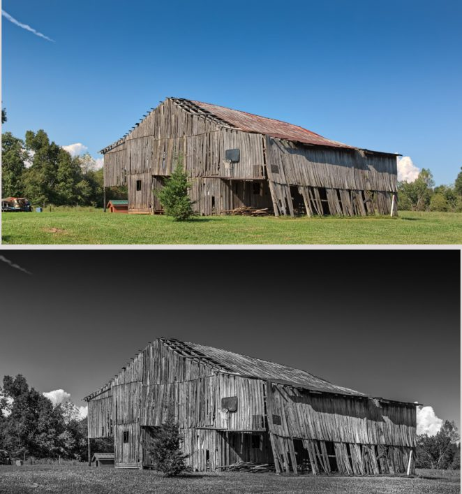 Kentucky Barn In Color Or Black And White?